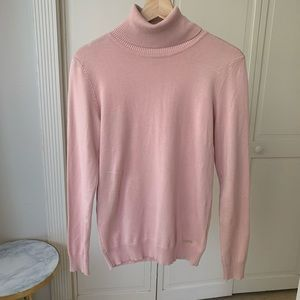 Calvin Klein Dusty Pink Turtleneck Sweater